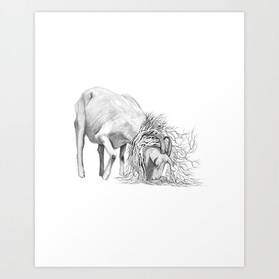 The Goat - Tangled Art Print