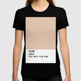 pantone, nude, CMYK colorblock T-shirt