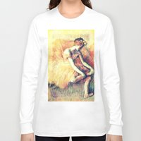 ballerina Long Sleeve T-shirts featuring BallerinA by PureVintageLove