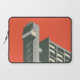 Trellick Tower London Brutalist Architecture - Plain Red Laptop Sleeve