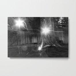 Backyard Ghosts Metal Print