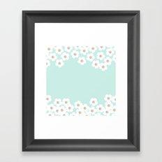 DAISY RAIN MINT Framed Art Print
