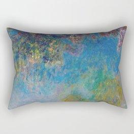 Wisteria by Claude Monet Rectangular Pillow