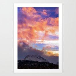 Flat Top Storm Clouds - Alaska Art Print
