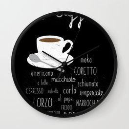 Coffee poster Wall Clock
