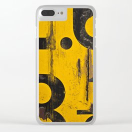 Yellow Signs Clear iPhone Case