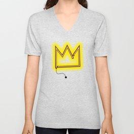 "Crown ""B"" – NEON Unisex V-Neck"