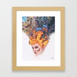 Flaming Girl Framed Art Print