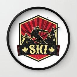 Ski Propaganda   Winter Sports Wall Clock