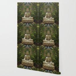 A Buddha in the Japanese Tea Garden, Golden Gate Park, San Francisco, California Wallpaper