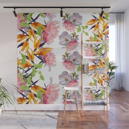 Lush Watercolor Florals Wall Mural