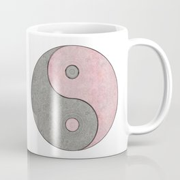 Yin Yang Esoteric Symbol Pastel Pink And Grey Coffee Mug