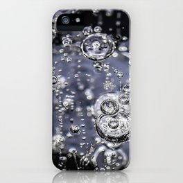 Air bubbles in frozen water iPhone Case