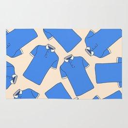 Shopping Blue Poloshirts Rug