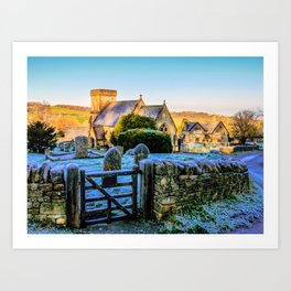 Snowshill View Art Print