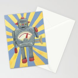Cute robot toy Stationery Cards