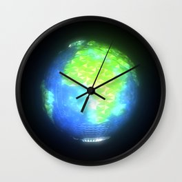 Albedo: Africa And Europe By Day Wall Clock