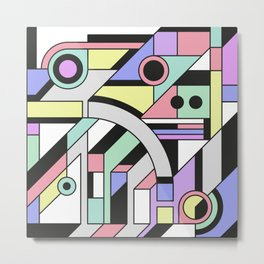 De Stijl Abstract Geometric Artwork Metal Print