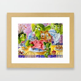 Jumblie Creature Feast Framed Art Print