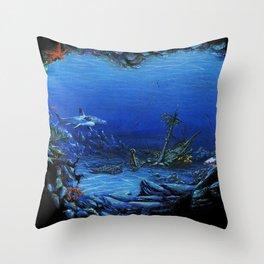 deep sea Throw Pillow