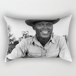 Sidney Poitier KBE - Bahamian-American Actor Film Director Shop Society6 Online BLM II89 Rectangular Pillow
