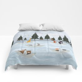 the great paper boat race Comforters