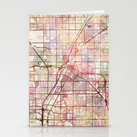 las vegas Stationery Cards featuring Las Vegas by MapMapMaps.Watercolors