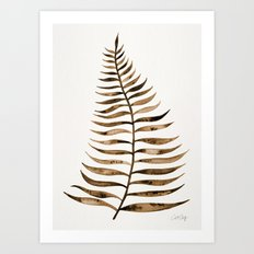 Palm Leaf – Sepia Art Print