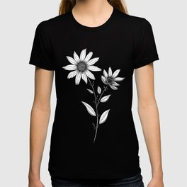 Wildflower line drawing | Botanical Art T-shirt