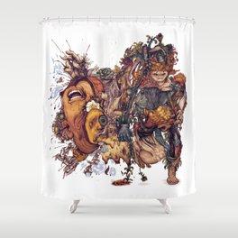 seam imaginations No.2 Shower Curtain
