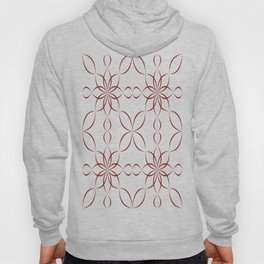 Maroon calligraphic pattern Hoody