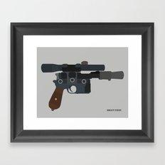Shoot First. Framed Art Print