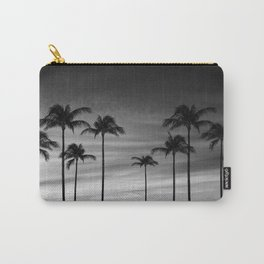 Black & White Palm Trees Photography | Landscape | Sunset |  Clouds | Minimalism Carry-All Pouch