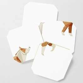 Origami Husky Coaster
