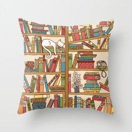 Bookshelf No. 1 Throw Pillow