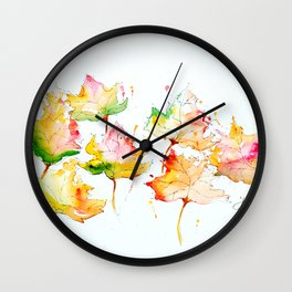 Leaves of Change Wall Clock