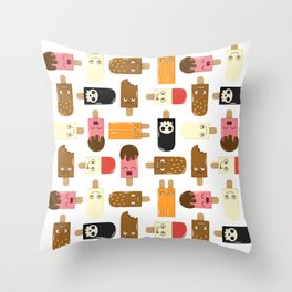 Ice Cream Challenge Character pattern Throw Pillow