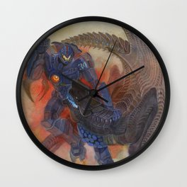 Battle of titans Wall Clock