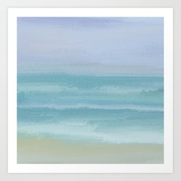 Seashore Small Breakers Art Print