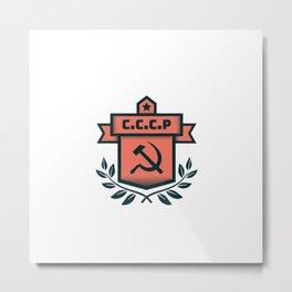 CCCP Modern Coat of Arms Metal Print