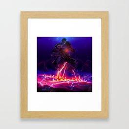 Gipsy Danger Breach Framed Art Print
