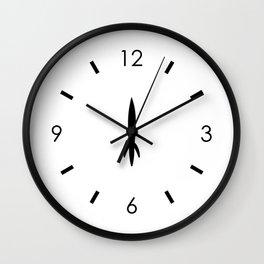 Mid-Century Rocket Countdown Wall Clock