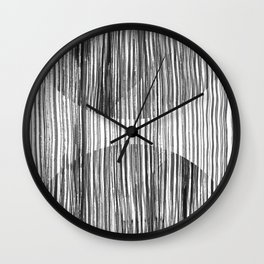Monastery Striped Circles Wall Clock