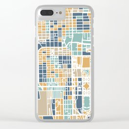 Chicago map Clear iPhone Case