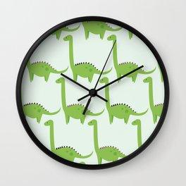 Diplodocus pattern Wall Clock