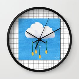 Spring Rain_ver2 Wall Clock