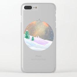 My Snowland | Christmas Spirit Clear iPhone Case