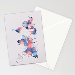 map world map 58 Stationery Cards