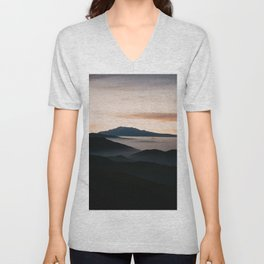CLOUDY MOUNTAINS Unisex V-Neck