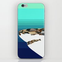 shark iPhone & iPod Skins featuring SHARK by Joan Horne